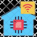 House Ai Wifi Icon