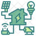Smart Home Electric House Icon