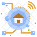 Smart Home Iot System Home Automation Digital Transformation Smart Lifestyle Digitalisation Icon