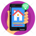 Smart Home App Internet Of Thing Iot Icon