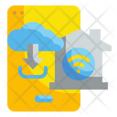 Smart Home Application Cloud Data Icon
