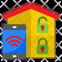 Smart Home Lock Smartphone Home Icon
