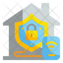 Smart Home Security Lock Shield Icon