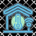 Smart Home Temperature Home Temperature Thermometer Icon