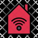 Smart House Home Wifi Internet Icon