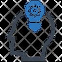 Smart Idea Ability Brainstorming Icon