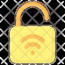 Unlock Padlock Protection Icon