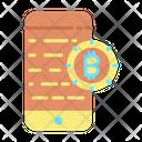 Smart Phone Bitcoin Icon
