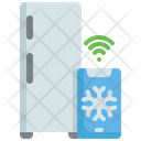 Smart Refrigerator Refrigerator Temperatuure Icon