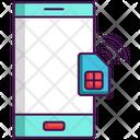 Smart Sim Sim Card Mobile Icon