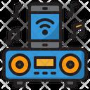 Smart Speaker Music Smartphone Icon