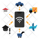 Smart Technology House Car Icon