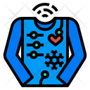 Smart Tracking Clothes Icon