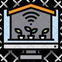 Monitor Warehouse Plants Icon