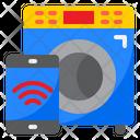 Smart Washing Machine Smartphone Wash Icon
