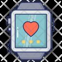 Smart Watch Heart Beat Fitness Icon