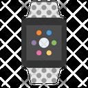 Smart watch grey classic buckle Icon