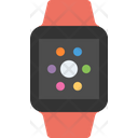 Smart watch red sport band Icon