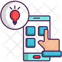 Smart Working Smartphone Mobile Icon