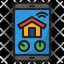 Smarthome Smartphone Control Icon