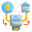 Smarthome Electricity Panel Icon