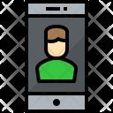 Smartphone User Communication Icon