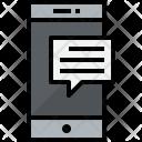 Smartphone Talk Communication Icon