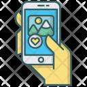 Smartphone Photo Like Icon
