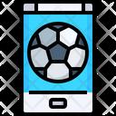 Smartphone Online Soccer Telecast Match Schedule Icon
