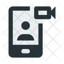 Smartphone Video Communication Icon
