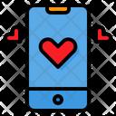 Smartphone Love Valentine Icon