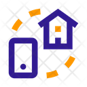 Smartphone House Synchronization Icon
