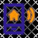 Smartphone House Remote Control Icon
