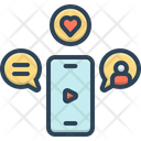 Smartphone Communication Love Chat Icon