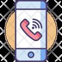Smartphone Calling Phone Icon