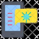 Smartphone Mobile App Chat Bubble Icon