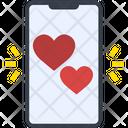 Smartphone Love Heart Icon