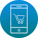 Smartphone Screen Cart Online Shopping Icon