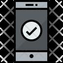 Smartphone Check Communication Icon