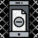 Smartphone Doc Remove Icon