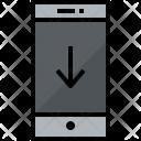Smartphone Down Communication Icon
