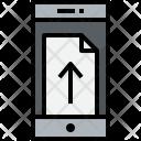 Smartphone Doc Up Icon