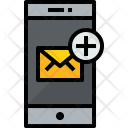 Smartphone Mail Add Icon