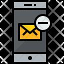 Smartphone Mail Remove Icon