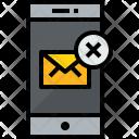 Smartphone Mail X Icon