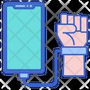 Smartphone Addiction Man Using Smartphone Mobile Addiction Icon