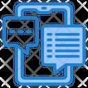 Smartphone Chat Inbox Icon