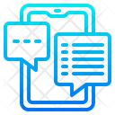 Smartphone Chat Smartphone Chat Icon