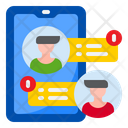Smartphone Chat Warning Chat Warning Smartphone Icon
