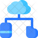 Smartphone cloud network Icon